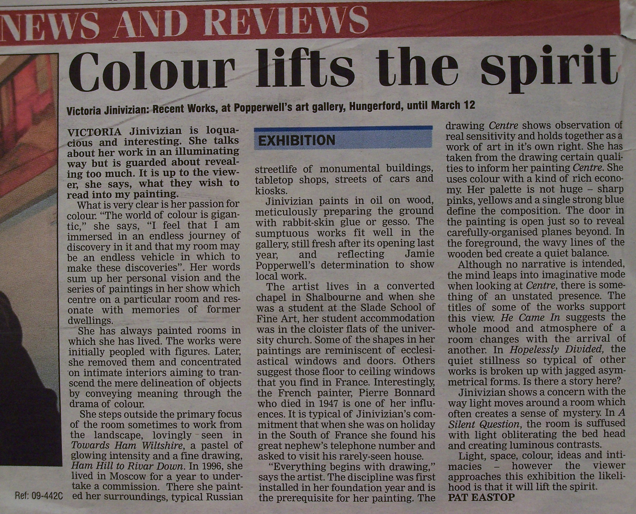 Exhibition review, Newbury Weekly News, 2004