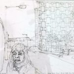 'George Loveless House, Diss Street, E2' 2013, pencil