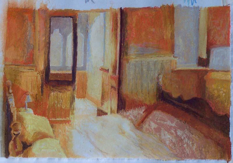 'Admit' 2006, pastel drawing