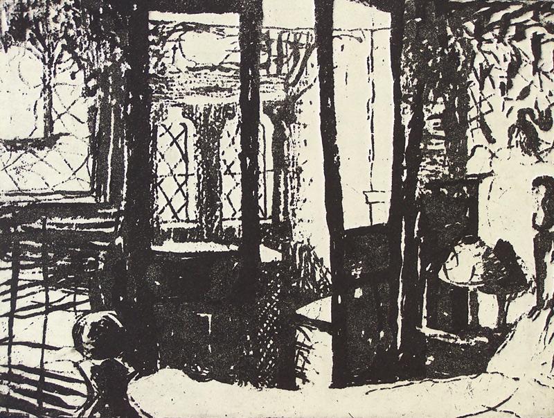 'Bedroom' 2008, etching