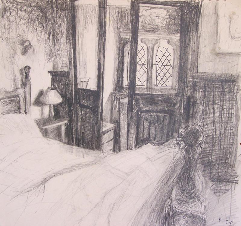 'Bedroom study i' 2007, pencil