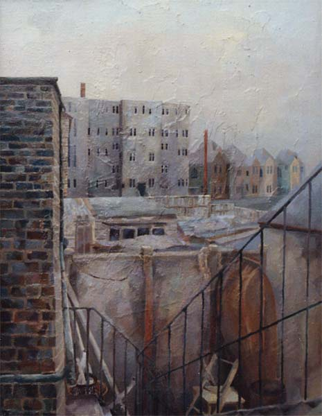 'Behind Christchurch Road, Boscombe' 1991, oil on linen