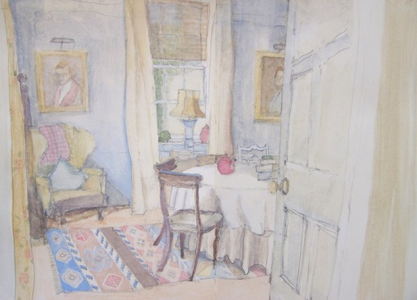 'Dining Room' 2010, watercolour