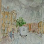 'Horsebox, Bathwick Hill' 2009, watercolour