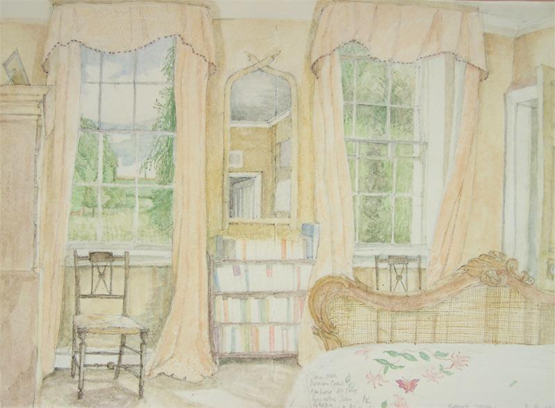 'Philip's Room', 2010, watercolour