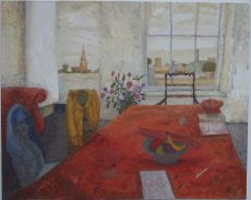 'Interior, Notting Hill', oil on gesso panel