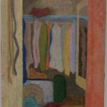 'Interior, wardrobe' 2014, oil on gesso