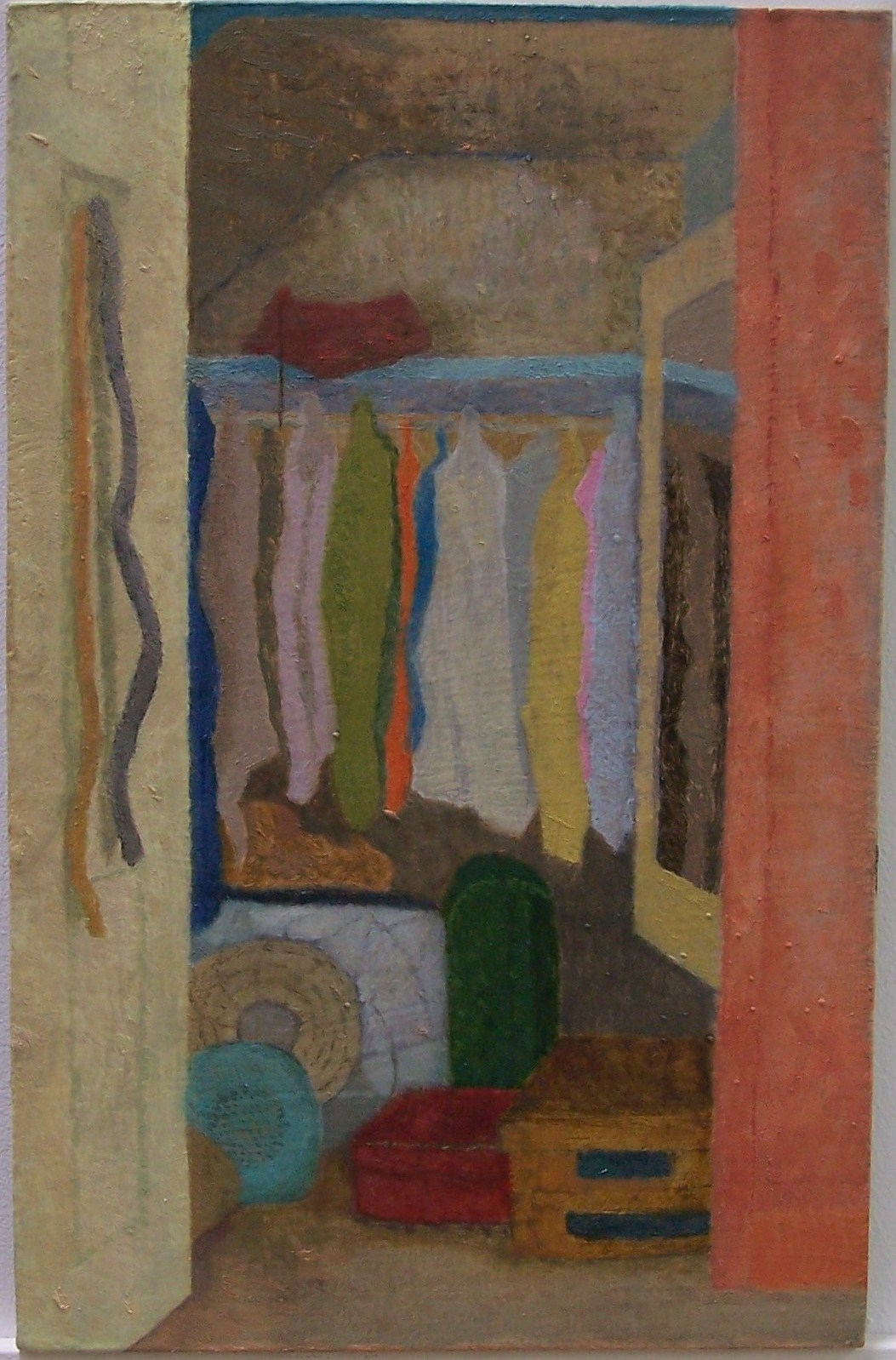 'Interior, wardrobe' 2014, oil on gesso