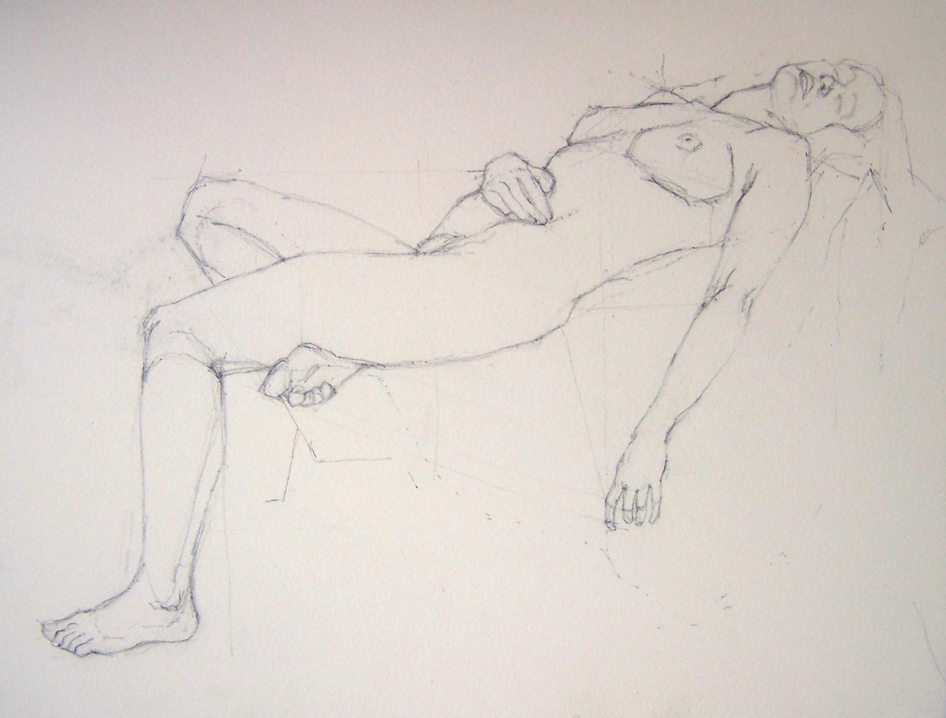 Life drawing, pencil