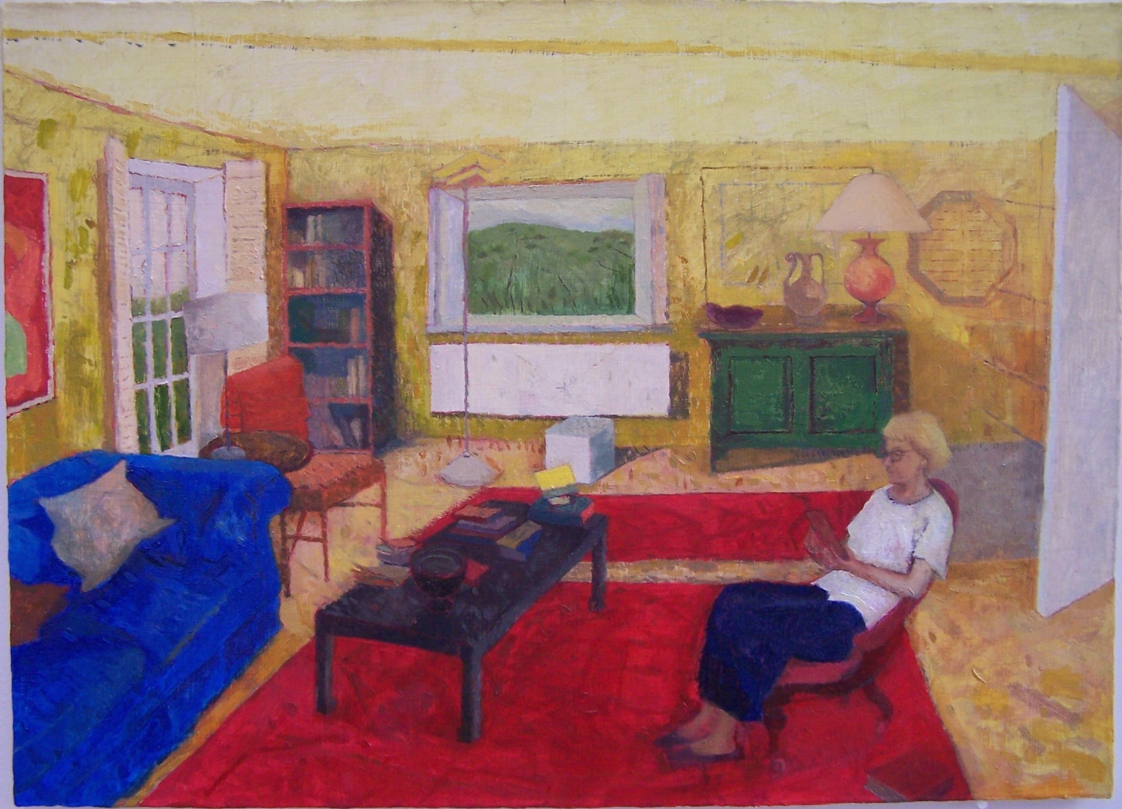 'Room, Wiltshire', 2016, oil on gesso panel