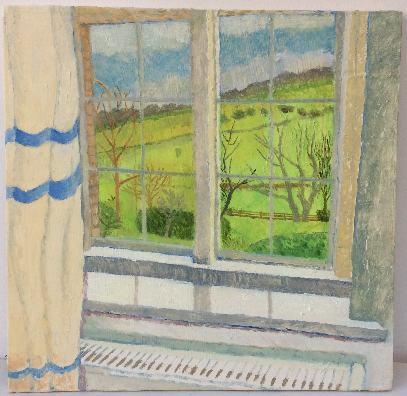 """""""From a Bedroom at Warrens"""" 2016 oil on gesso panel"""