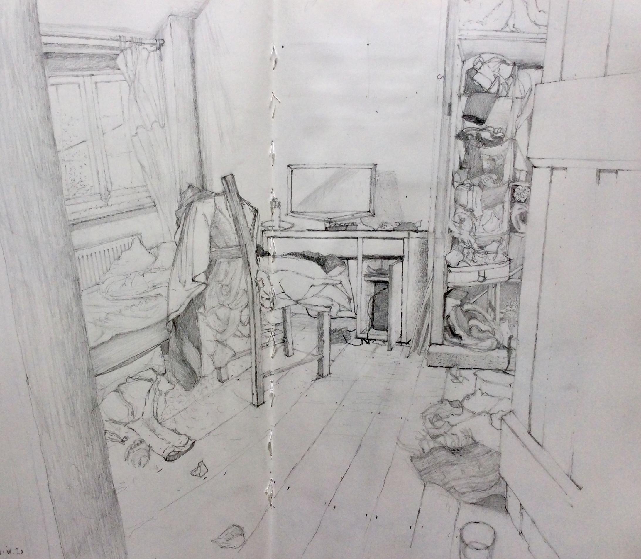 Teenage Lockdown 2020 drawing