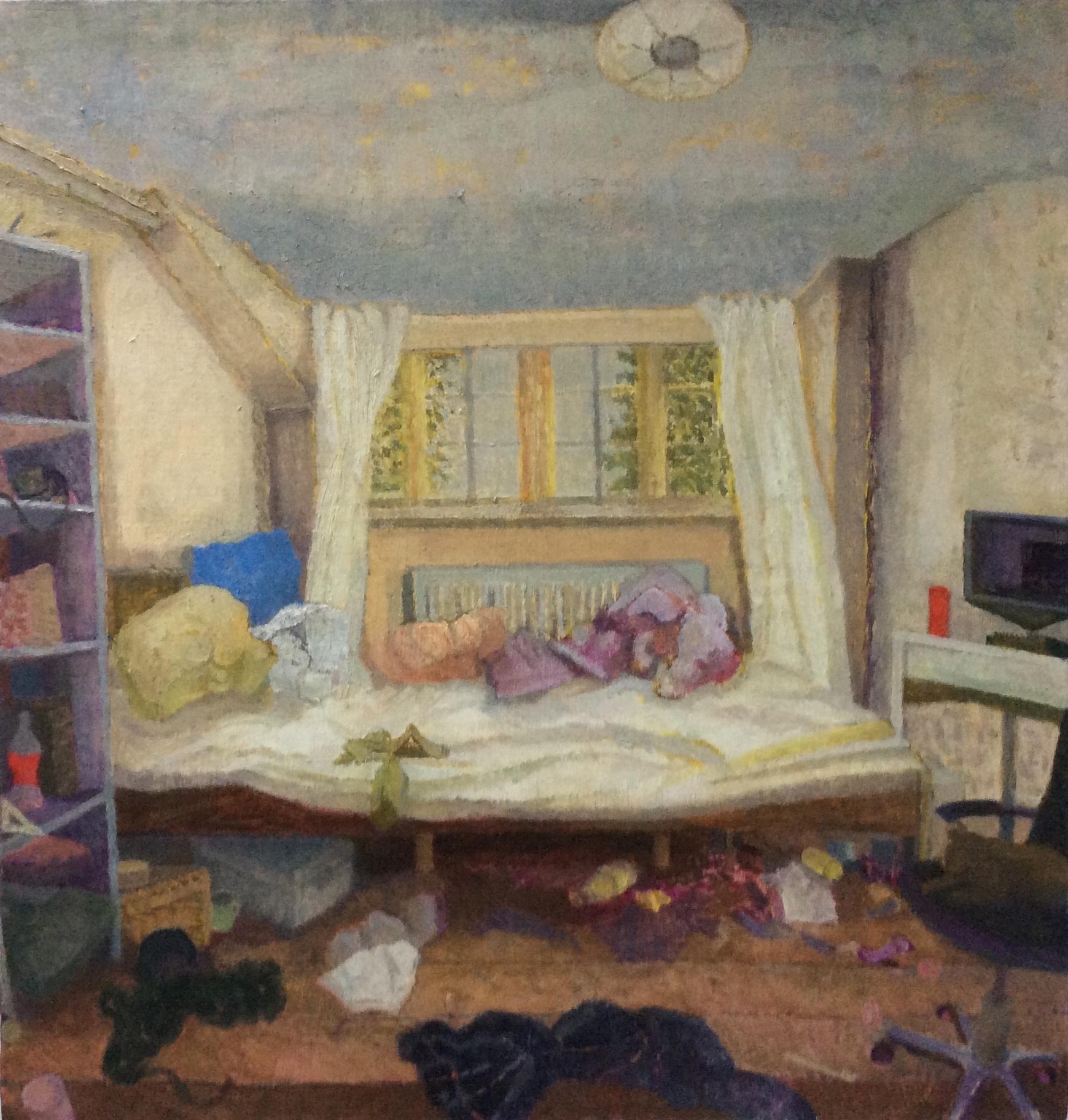 Teenage Room Anarchy 2020, oil on gesso panel